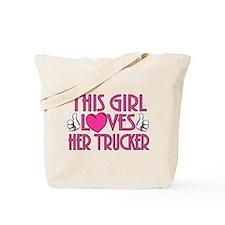 This Girl Loves Her Trucker Tote Bag