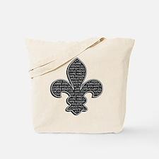 Cajun Fleur De Lis Tote Bag