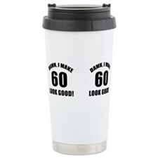 Cute 60th birthday Stainless Steel Travel Mug