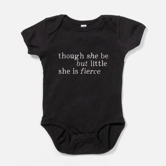 She is Fierce Shakespeare Baby Bodysuit
