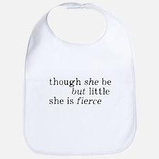 She is Fierce Shakespeare Bib