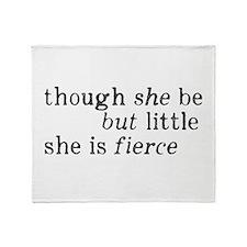 She is Fierce Shakespeare Throw Blanket