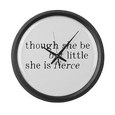 She is Fierce Shakespeare Large Wall Clock