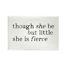 She is Fierce Shakespeare Rectangle Magnet