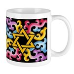 Rainbow Scroll-Star (black) Mug