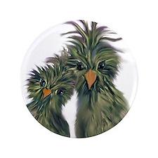 """DODO DOODLE LOVE BIRDS 3.5"""" Button"""
