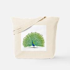 Colorful Peacock Design Tote Bag