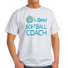 Earths Best Softball Coach T-Shirt