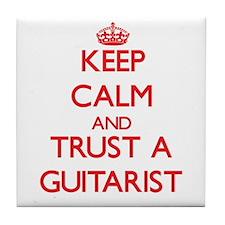 Keep Calm and Trust a Guitarist Tile Coaster