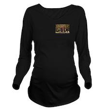 Fox Hunt Long Sleeve Maternity T-Shirt