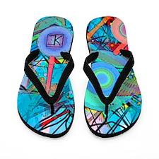 Scribbles Flip Flops