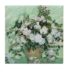 Vincent van Gogh, Roses Tile Coaster