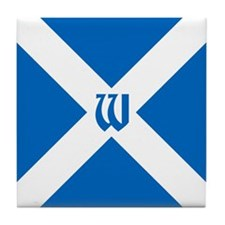 Team Scotland Saltire Monogram Tile Coaster
