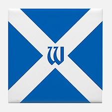 Team Scotland Saltire Monogram Tile Coaster