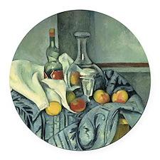 Paul Cezanne, The Peppermint Bott Round Car Magnet