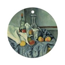 Paul Cezanne, The Peppermint Bottle Round Ornament