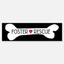 Dog Rescue Foster Bumper Sticker Bumper Sticker
