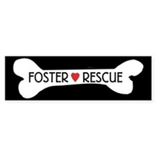 Dog Rescue Foster Bumper Stickers Sticker (Bumper