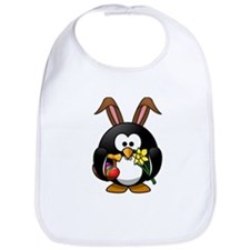 Easter Bunny Penguin with Eggs Bib