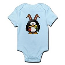 Easter Bunny Penguin with Eggs Body Suit