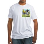 Lemon Blue OE Pair Fitted T-Shirt