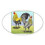 Lemon Blue OE Pair Oval Sticker