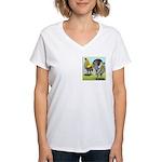 Lemon Blue OE Pair Women's V-Neck T-Shirt