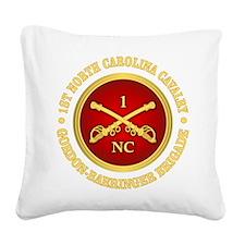 1st North Carolina Cavalry Square Canvas Pillow