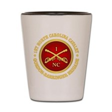 1st North Carolina Cavalry Shot Glass