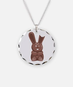 Chocolate Easter Bunny Necklace