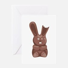 Chocolate Easter Bunny Greeting Cards