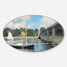 Claude Monet, The Bridge At Argente Decal