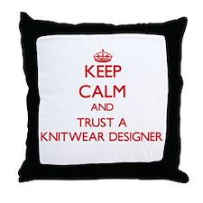 Keep Calm and Trust a Knitwear Designer Throw Pill
