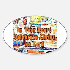 Heart Celebrate Christ Decal