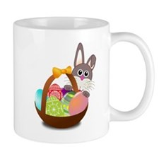 Easter Bunny with Egg Basket Mugs