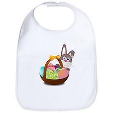Easter Bunny with Egg Basket Bib