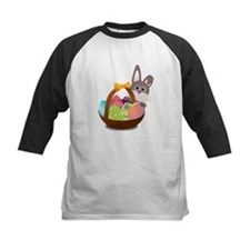 Easter Bunny with Egg Basket Baseball Jersey