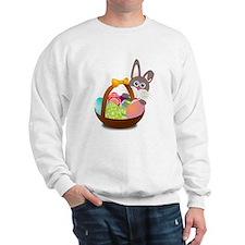 Easter Bunny with Egg Basket Sweatshirt