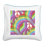 Rainbow Of Peace Square Canvas Pillow