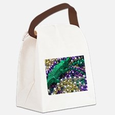 Mardi Gras Alligator Beads Canvas Lunch Bag