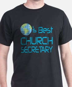 Earths Best Church Secretary T-Shirt