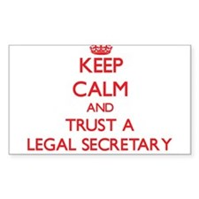 Keep Calm and Trust a Legal Secretary Decal