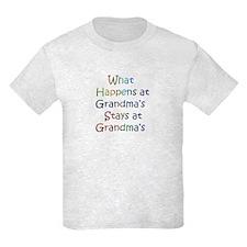 What Happens / Stays at Grandma's Kids T-Shirt