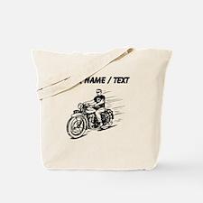 Custom Biker Dude Tote Bag