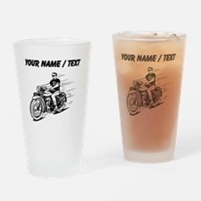 Custom Biker Dude Drinking Glass
