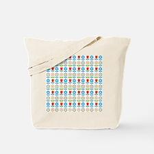 Scandinavian flowers Tote Bag