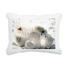 Polar Bear Rectangular Canvas Pillow