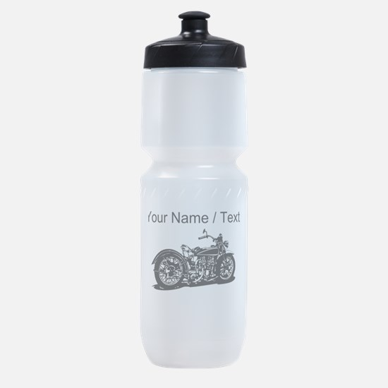 Custom Vintage Motorcycle Sports Bottle
