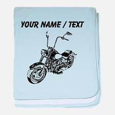 Custom Vintage Motorcycle baby blanket