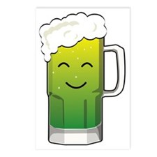 Happy green beer mug Postcards (Package of 8)